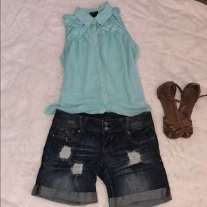 Almost Famous Distressed Shorts Juniors 7